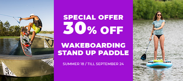 Wakeboarding a stand up paddle -30 %