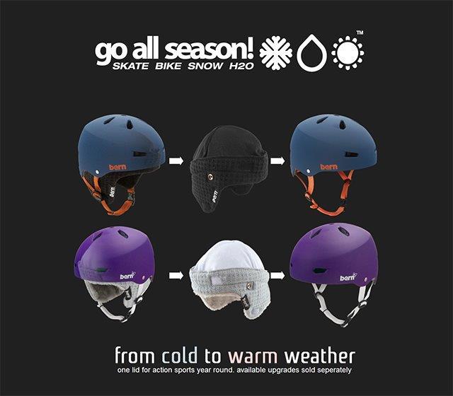Bern helmy pro všechna roční období
