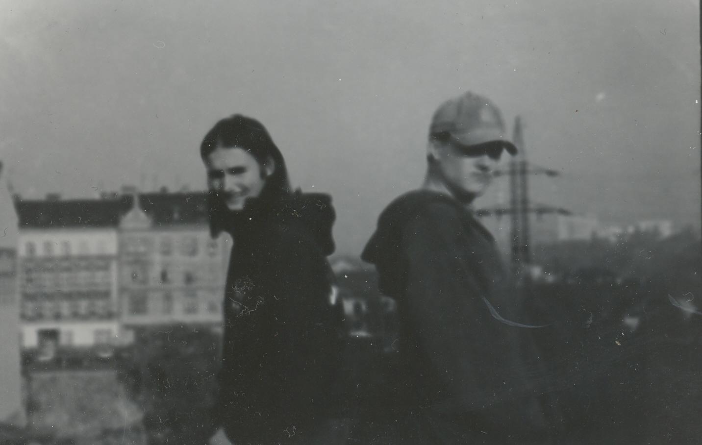Hanuš Salz a Pavel Kubíček v Plzni v roce 1992