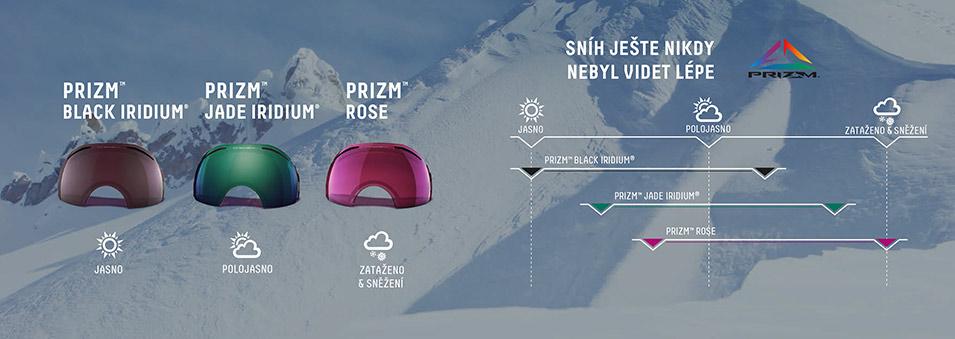 Prizm™ - revoluční technologie zimních brýlí
